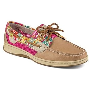 Sperry Top Sider Bluefish Liberty Floral Slip Ons